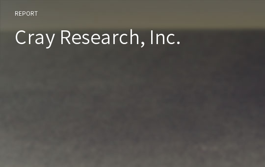 Cray Research, Inc.