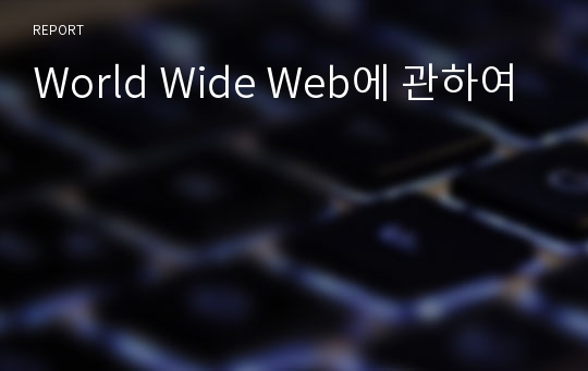 World Wide Web에 관하여
