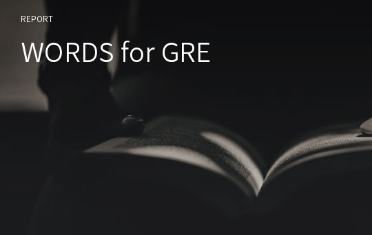 WORDS for GRE
