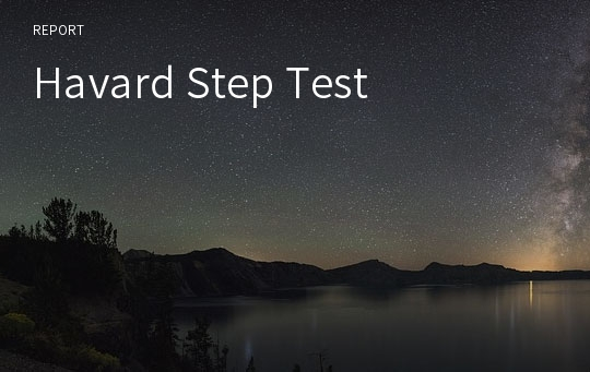Havard Step Test