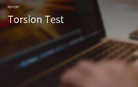 Torsion Test