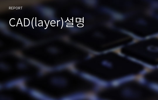 CAD(layer)설명