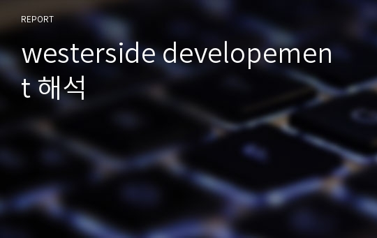 westerside developement 해석