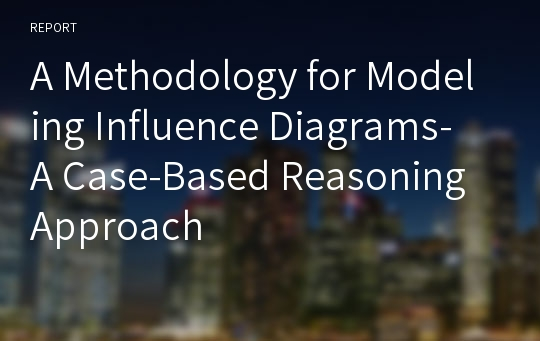 A Methodology for Modeling Influence Diagrams- A Case-Based Reasoning Approach