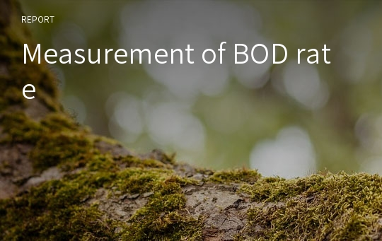 Measurement of BOD rate