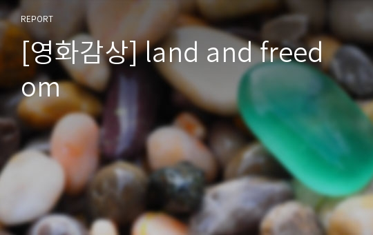 [영화감상] land and freedom