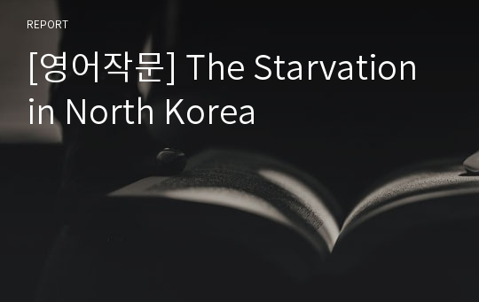 [영어작문] The Starvation in North Korea
