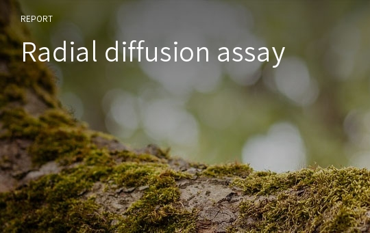Radial diffusion assay
