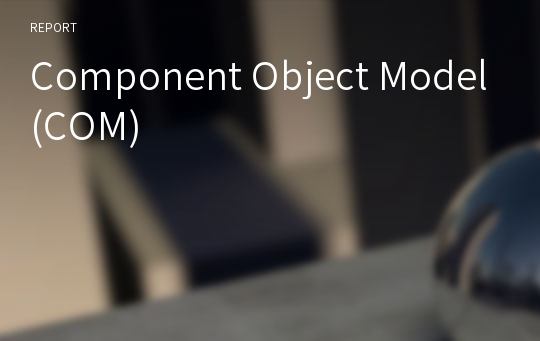 Component Object Model(COM)