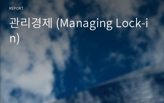 관리경제 (Managing Lock-in)
