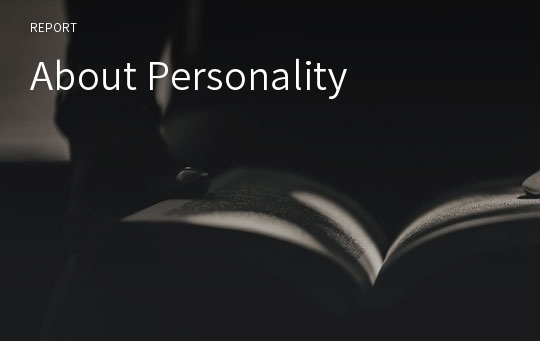 About Personality