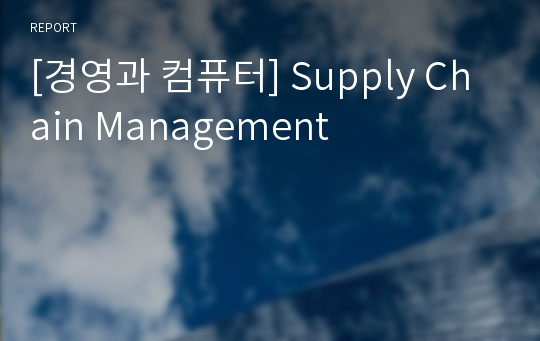 [경영과 컴퓨터] Supply Chain Management
