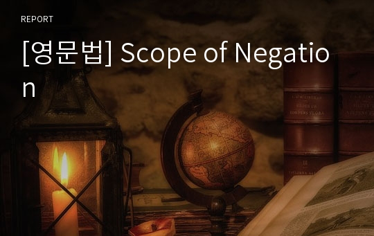 [영문법] Scope of Negation