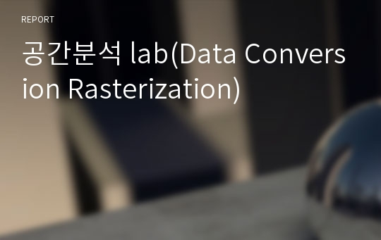 공간분석 lab(Data Conversion Rasterization)