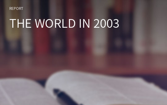 THE WORLD IN 2003