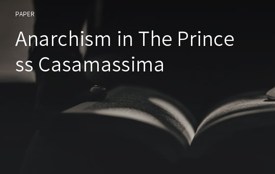 Anarchism in The Princess Casamassima
