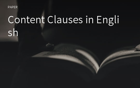 Content Clauses in English