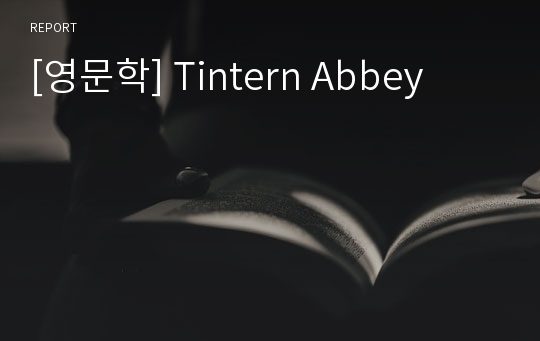 [영문학] Tintern Abbey