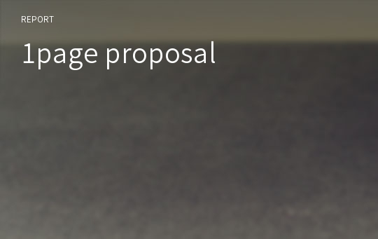 1page proposal