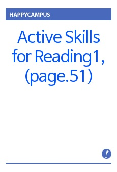 Active Skills for Reading1, UNIT4(page.51)