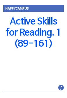 Active Skills for Reading. 1 (89-161)