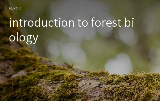 introduction to forest biology