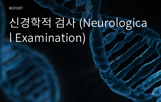 신경학적 검사 (Neurological Examination)