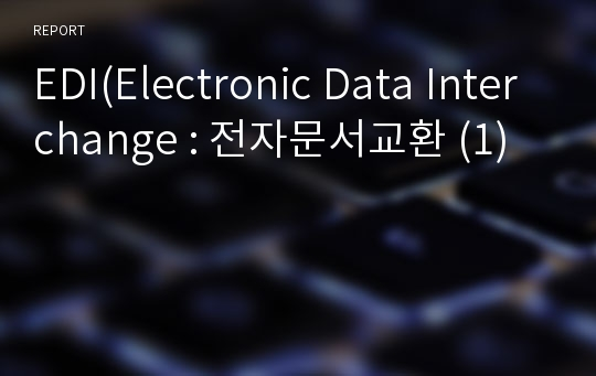 EDI(Electronic Data Interchange : 전자문서교환 (1)