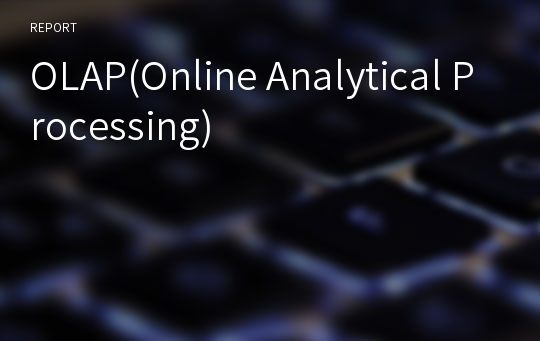 OLAP(Online Analytical Processing)