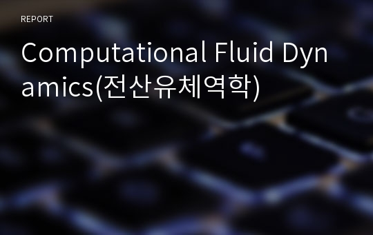 Computational Fluid Dynamics(전산유체역학)