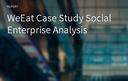 WeEat Case Study Social Enterprise Analysis