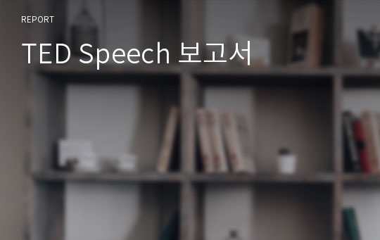 TED Speech 보고서