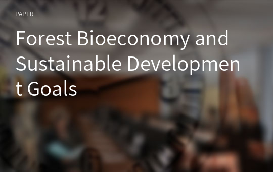 Forest Bioeconomy and Sustainable Development Goals