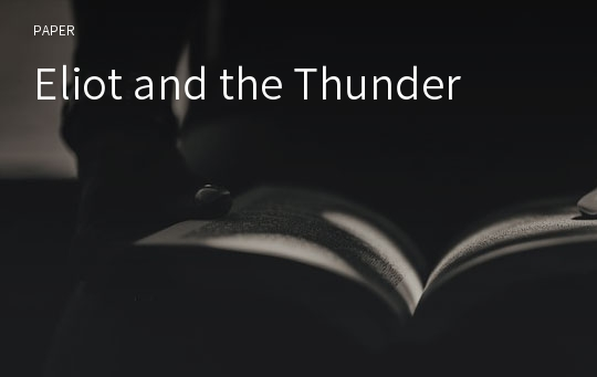 Eliot and the Thunder