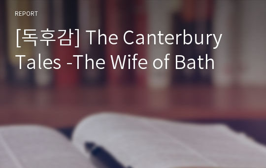 [독후감] The Canterbury Tales -The Wife of Bath